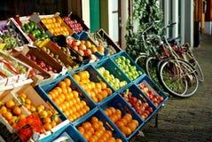Fresh fruit shop stock photo