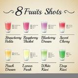 FRESH FRUIT SHOTS SET Stock Photo