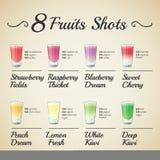 FRESH FRUIT SHOTS SET stock photo