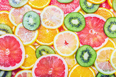 Fresh fruit slices Royalty Free Stock Images