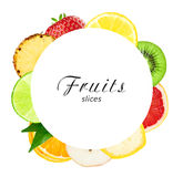 Fresh fruit slices Royalty Free Stock Image