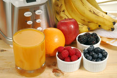 Fresh Fruit Smoothie Stock Photos