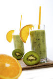 Fresh fruit smoothie. With kiwi and orange Stock Image