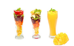 Fresh fruit smoothie Stock Images