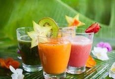 Fresh fruit smoothies Stock Photography