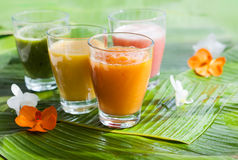 Fresh fruit smoothies Stock Images