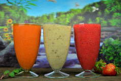 Fresh fruit smoothies Royalty Free Stock Photography