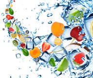 Fresh fruit splash Royalty Free Stock Photography
