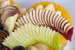 Fresh fruit on a sponge cake Royalty Free Stock Photography