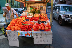 fresh fruit stall at the  Insadong market Royalty Free Stock Photography