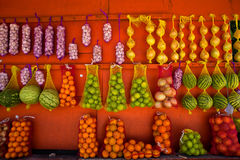 Fresh Fruit Stand Stock Photography