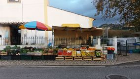Fresh Fruit Stand. On the street Royalty Free Stock Image