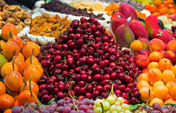 Fresh fruit in a street market Royalty Free Stock Photo