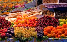 Fresh fruit in a street market Stock Photo