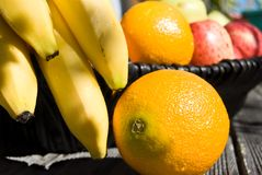 Fresh fruit in the sun Royalty Free Stock Photography