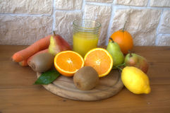Fresh fruit on the table Stock Images
