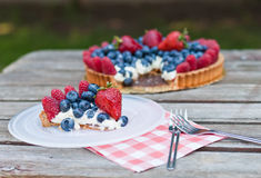 Fresh fruit tart Royalty Free Stock Images