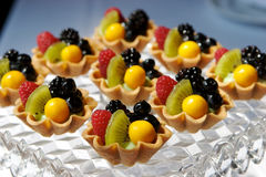 Fresh fruit tart stock photos