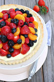 Fresh Fruit Tart Stock Images