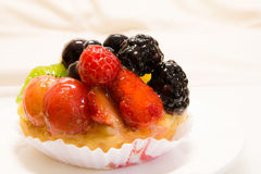 Fresh fruit tart Stock Photo