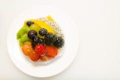 Fresh fruit tart Stock Images