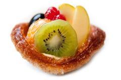 Fresh fruit tart on white background. Fresh fruit tart isolated on white background Royalty Free Stock Image