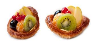 Fresh fruit tart on white background. Fresh fruit tart isolated on white background Stock Image