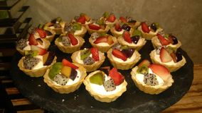 Fresh fruit tartlets royalty free stock image