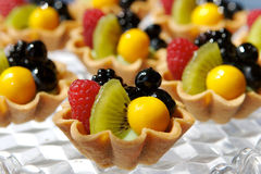 Fresh Fruit Tarts Stock Photos