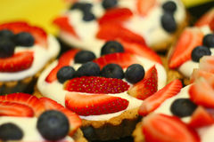 Fresh Fruit Tarts Stock Photography