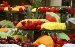 Fresh fruit tray Stock Image