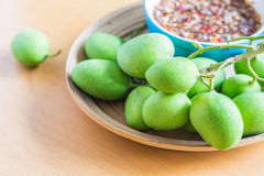 Fresh fruit on tray Royalty Free Stock Photo