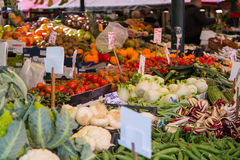 Fresh Fruit and Veg at a Market Royalty Free Stock Photography