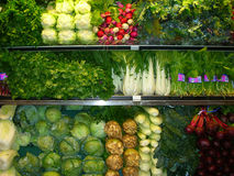 Fresh fruit and veges. Fresh fruits and vegetables in a supermarket Royalty Free Stock Photo