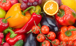 Fresh fruit and vegetable stock photo