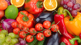 Fresh fruit and vegetable stock photography