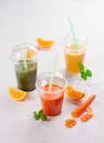 Fresh fruit and vegetable juice Stock Images