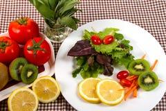 Salad. Fresh fruit and vegetable salad Stock Photos