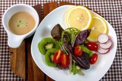 Salad. Fresh fruit and vegetable salad Stock Image