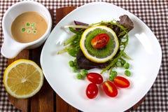 Salad. Fresh fruit and vegetable salad Royalty Free Stock Photos