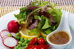 Salad. Fresh fruit and vegetable salad Stock Images