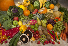 Fresh Fruit and Vegetables Royalty Free Stock Photos