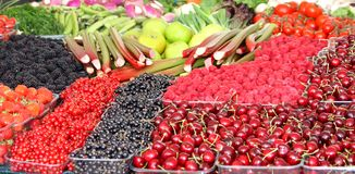 Fresh Fruit and Vegetables. Stock Photos