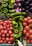 Fresh fruit and vegetables at the Boqueria market Stock Photo