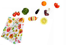Fresh fruit and vegetables coming out from the package Royalty Free Stock Photo