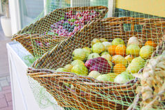 Fresh fruit and vegetables at market stall Royalty Free Stock Photo