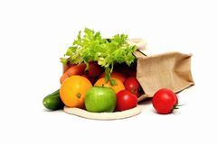 Fresh fruit and vegetables. Fresh organic fruit and vegetables royalty free stock photos