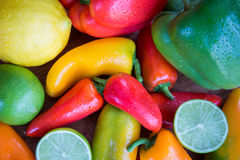 Fresh Fruit and Vegetables Royalty Free Stock Images