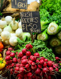 Fresh fruit and vegetables for sale Royalty Free Stock Photography