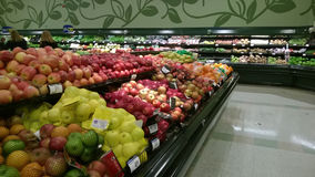 Fresh fruit  and vegetables selling at supermarket Stock Photography